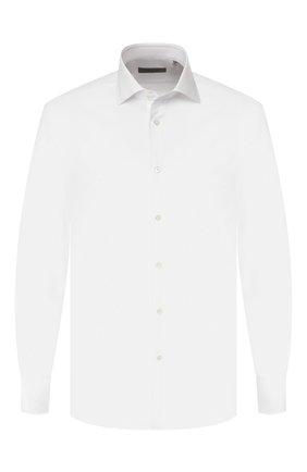 Мужская хлопковая сорочка CORNELIANI белого цвета, арт. 84P100-9811624/00 | Фото 1