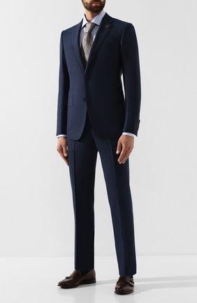 Мужская хлопковая сорочка CORNELIANI синего цвета, арт. 84P100-9811329/00 | Фото 2