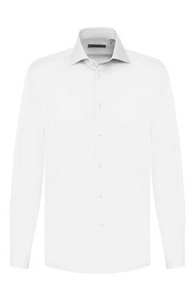 Мужская хлопковая сорочка CORNELIANI белого цвета, арт. 84P100-9811234/00 | Фото 1