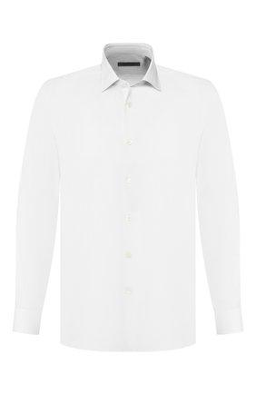 Мужская хлопковая сорочка CORNELIANI белого цвета, арт. 84P100-9811044/00   Фото 1