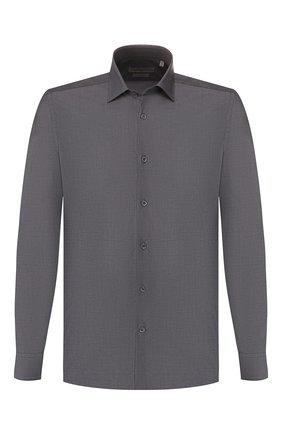 Мужская хлопковая сорочка CORNELIANI темно-серого цвета, арт. 84P010-9811044/00 | Фото 1