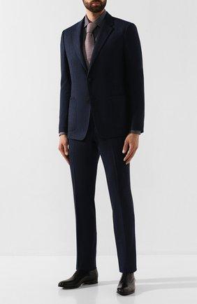 Мужская хлопковая сорочка CORNELIANI темно-серого цвета, арт. 84P010-9811044/00 | Фото 2