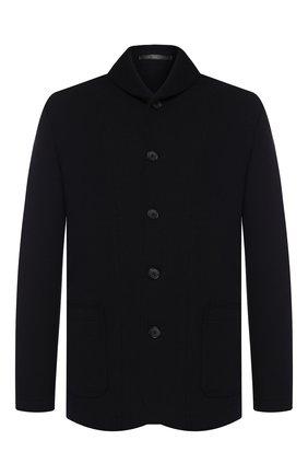 Мужской шерстяной пиджак GIORGIO ARMANI темно-синего цвета, арт. 9SGGG077/J002M   Фото 1