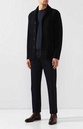 Мужской шерстяной пиджак GIORGIO ARMANI темно-синего цвета, арт. 9SGGG077/J002M   Фото 2