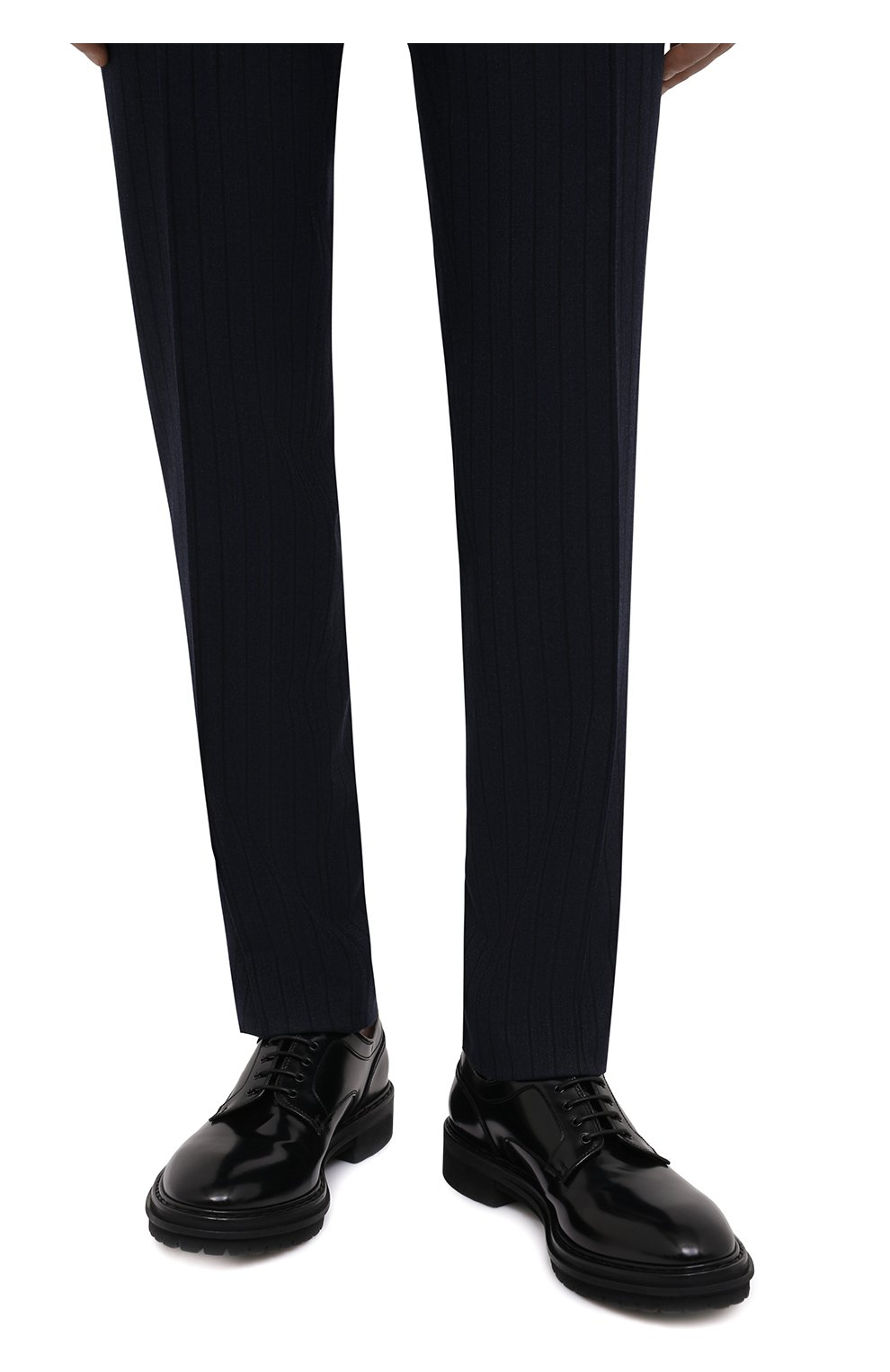 Мужские кожаные дерби PREMIATA черного цвета, арт. 31288/REAL | Фото 3