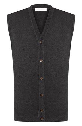 Мужской шерстяной жилет CRUCIANI темно-коричневого цвета, арт. CU164B.C75F6V | Фото 1