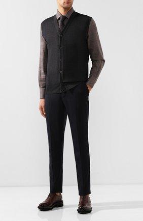 Мужской шерстяной жилет CRUCIANI темно-коричневого цвета, арт. CU164B.C75F6V | Фото 2
