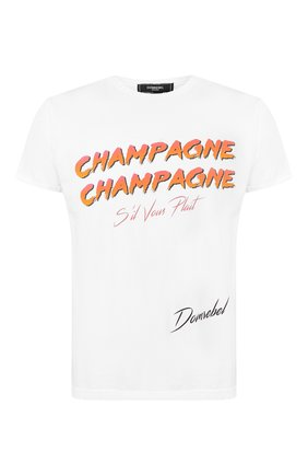 Мужская хлопковая футболка DOM REBEL белого цвета, арт. CHAMPAGNE/T-SHIRT   Фото 1