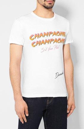 Мужская хлопковая футболка DOM REBEL белого цвета, арт. CHAMPAGNE/T-SHIRT   Фото 3