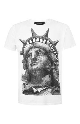 Мужская хлопковая футболка DOM REBEL белого цвета, арт. LIBERTY/T-SHIRT | Фото 1