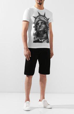 Мужская хлопковая футболка DOM REBEL белого цвета, арт. LIBERTY/T-SHIRT | Фото 2