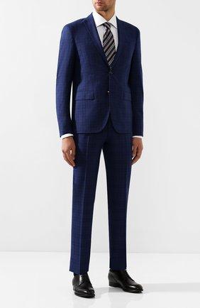 Мужской шерстяной костюм SAND синего цвета, арт. 1602 STAR-CRAIG | Фото 1