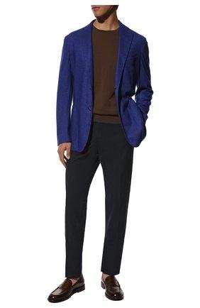 Мужской пиджак из смеси кашемира и шелка ZILLI синего цвета, арт. MNS-ECK1-2-B6468/M600 | Фото 2