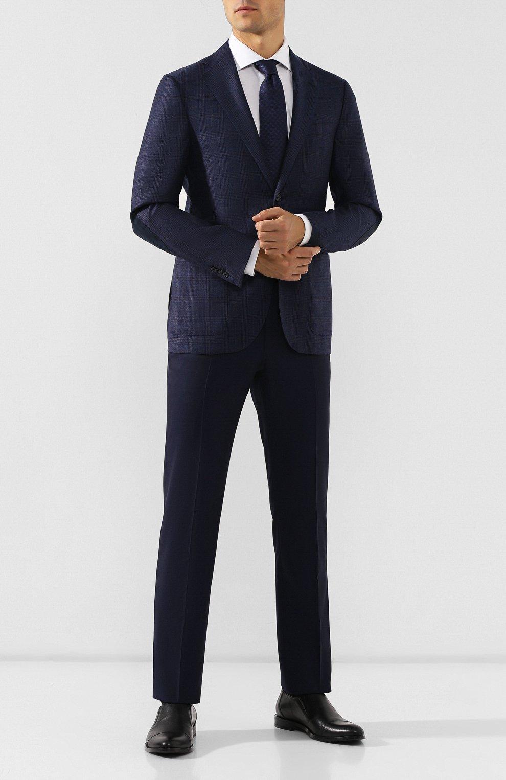 Мужские кожаные лоферы ALDO BRUE черного цвета, арт. AB510FPH-NL   Фото 2