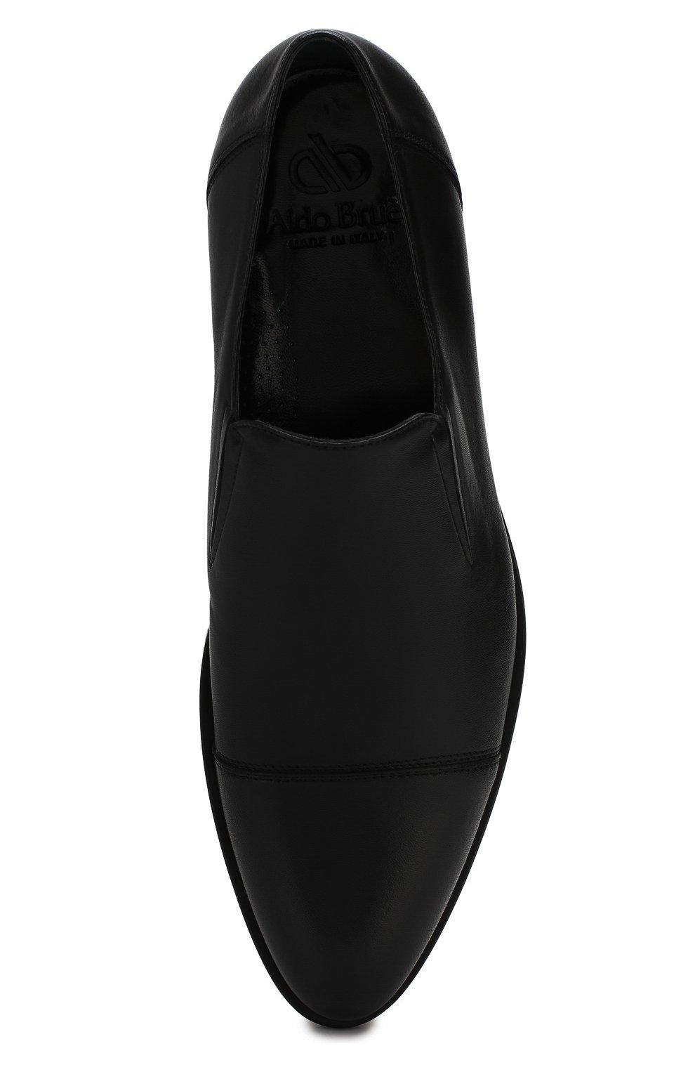 Мужские кожаные лоферы ALDO BRUE черного цвета, арт. AB510FPH-NL   Фото 5