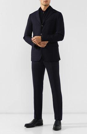 Мужские кожаные лоферы ALDO BRUE темно-синего цвета, арт. AB6203H-BR   Фото 2