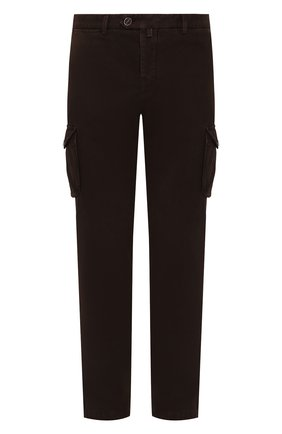 Мужской хлопковые брюки-карго KITON коричневого цвета, арт. UFPPCAJ03S69   Фото 1