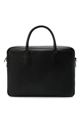 Мужская кожаная сумка для ноутбука CANALI черного цвета, арт. P325153/NA00051 | Фото 1