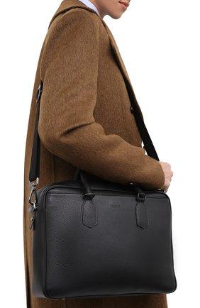Мужская кожаная сумка для ноутбука CANALI черного цвета, арт. P325153/NA00051 | Фото 2