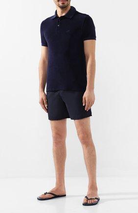 Мужские плавки-шорты VILEBREQUIN темно-синего цвета, арт. MOKH9A01 | Фото 2
