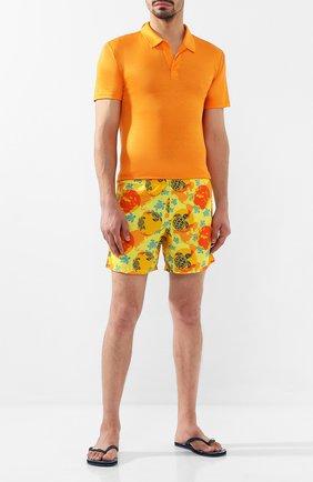 Детского плавки-шорты VILEBREQUIN оранжевого цвета, арт. MOOE9B32 | Фото 2