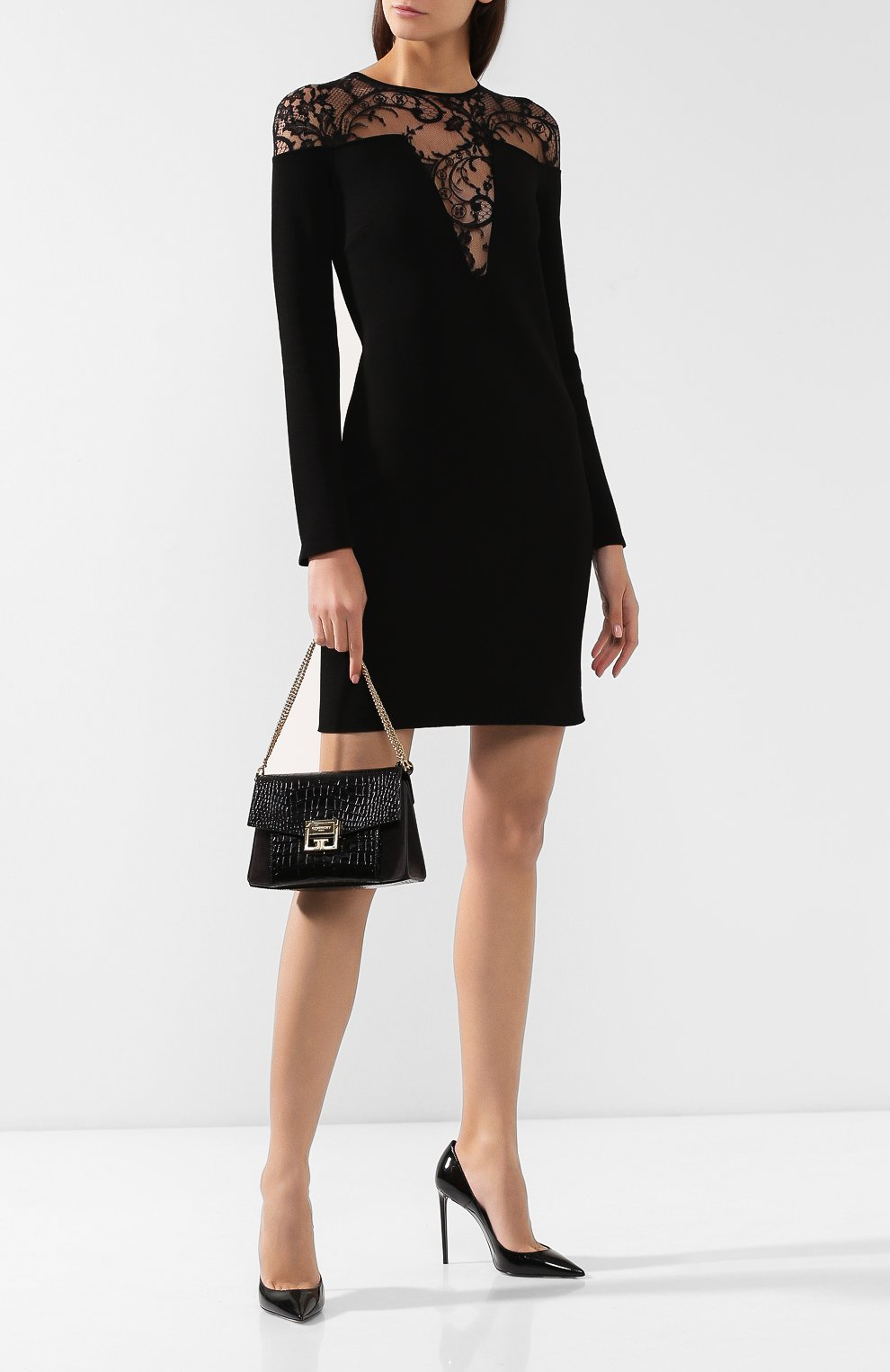 Сумка GV3 small Givenchy черная цвета | Фото №2