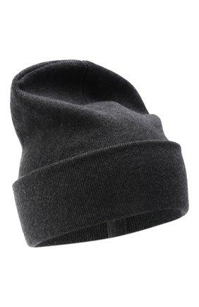 Женская кашемировая шапка BRUNELLO CUCINELLI темно-серого цвета, арт. M12163199   Фото 1