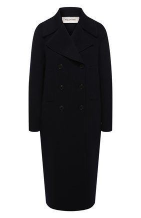 Женское кашемировое пальто VALENTINO синего цвета, арт. SB3CA3204G2 | Фото 1