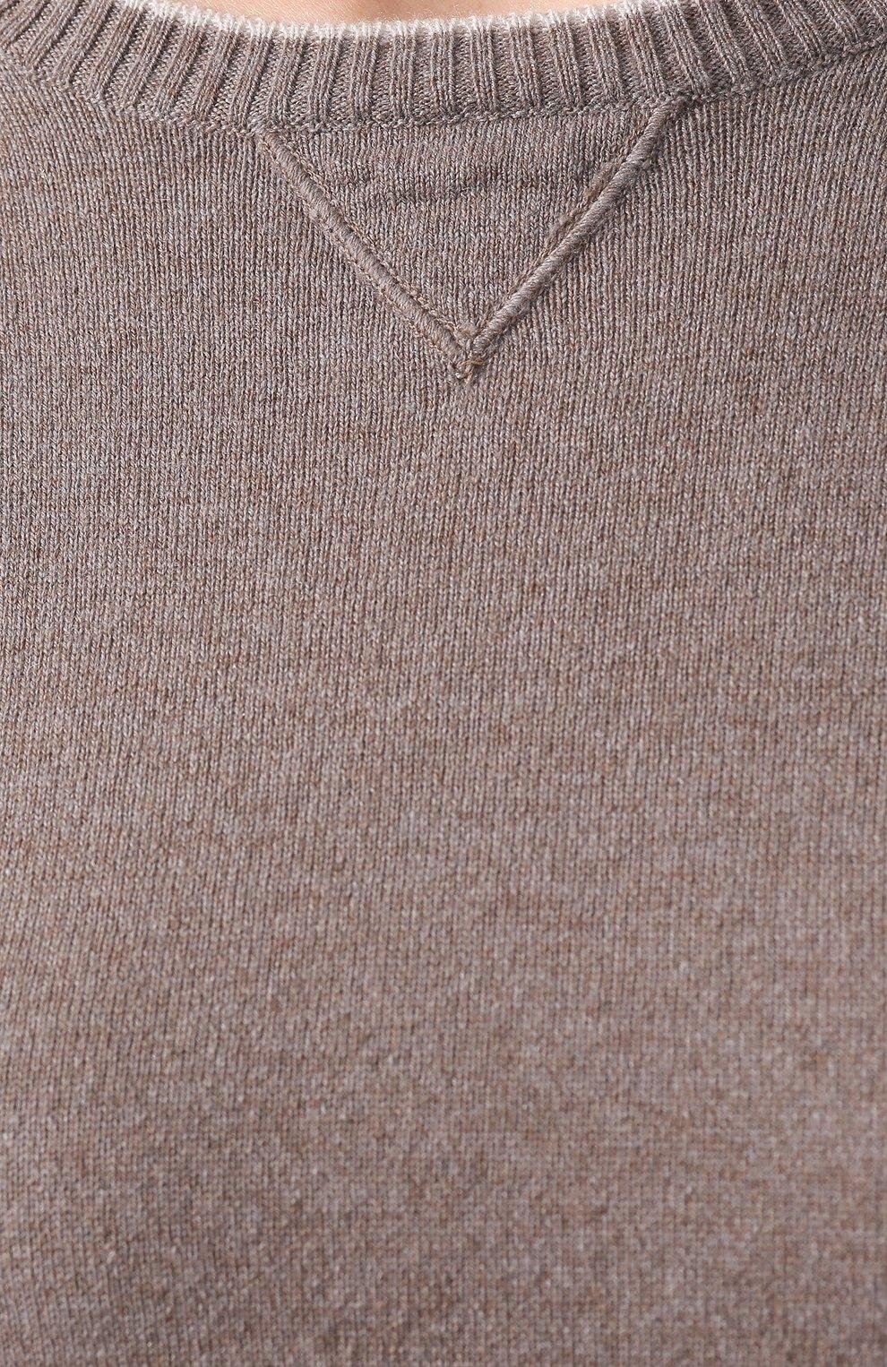 Женский кашемировый пуловер ELEVENTY серого цвета, арт. 980MA0534 MAG28014   Фото 5 (Рукава от горловины: Длинные; Материал внешний: Шерсть, Кашемир; Рукава: Длинные; Длина (для топов): Стандартные; Статус проверки: Проверено, Проверена категория; Женское Кросс-КТ: Пуловер-одежда)