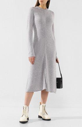Женское шерстяное платье JOSEPH серого цвета, арт. JF003327 | Фото 2