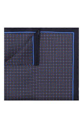 Мужской шелковый платок CANALI синего цвета, арт. 03/HS02472   Фото 1