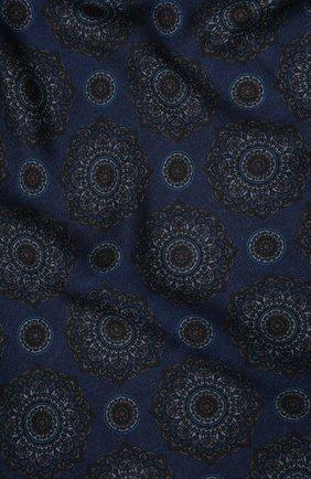 Мужской шарф из смеси шерсти и шелка KITON темно-синего цвета, арт. USCIACX02S54 | Фото 2