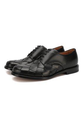 Мужские кожаные дерби BOTTEGA VENETA черного цвета, арт. 578272/VBPB1 | Фото 1