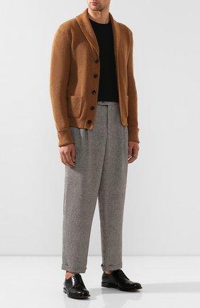 Мужские кожаные дерби BOTTEGA VENETA черного цвета, арт. 578272/VBPB1 | Фото 2
