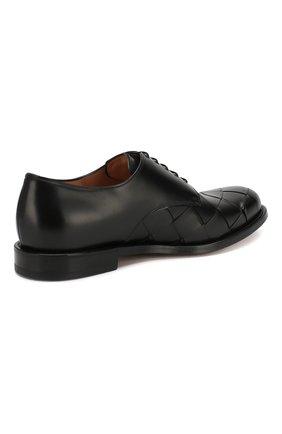 Мужские кожаные дерби BOTTEGA VENETA черного цвета, арт. 578272/VBPB1 | Фото 4