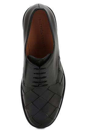 Мужские кожаные дерби BOTTEGA VENETA черного цвета, арт. 578272/VBPB1 | Фото 5