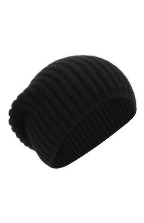 Мужская кашемировая шапка SVEVO черного цвета, арт. 0188SA19/MP01/2 | Фото 1