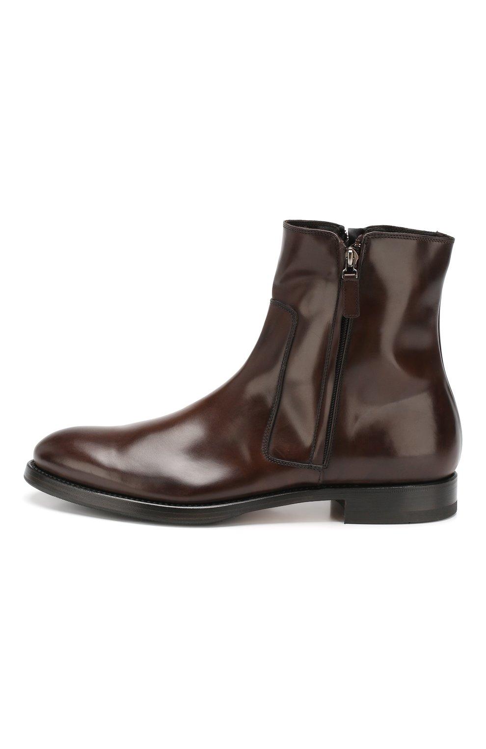 Мужские кожаные сапоги W.GIBBS темно-коричневого цвета, арт. 8378133/0238 | Фото 3