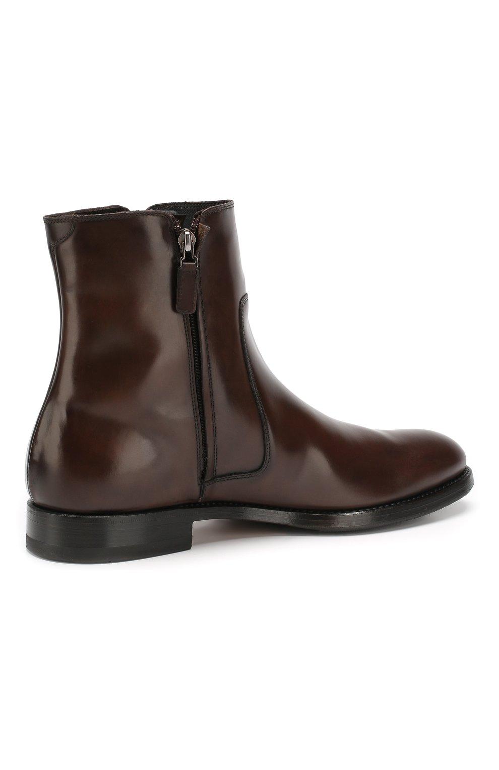 Мужские кожаные сапоги W.GIBBS темно-коричневого цвета, арт. 8378133/0238 | Фото 4