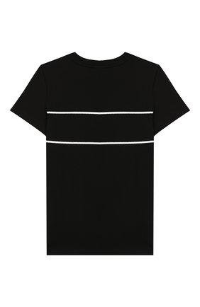 Детская хлопковая футболка GIVENCHY черного цвета, арт. H25142 | Фото 2