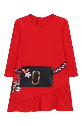 Женский хлопковое платье MARC JACOBS (THE) красного цвета, арт. W02129 | Фото 1