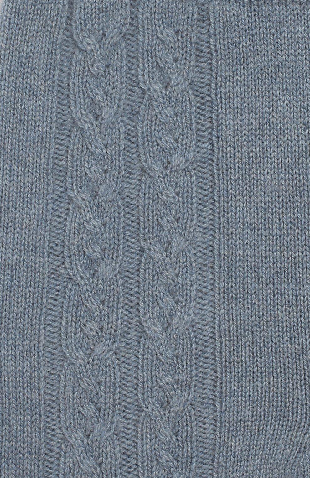 Детские кашемировые брюки LORO PIANA голубого цвета, арт. FAI7293 | Фото 3