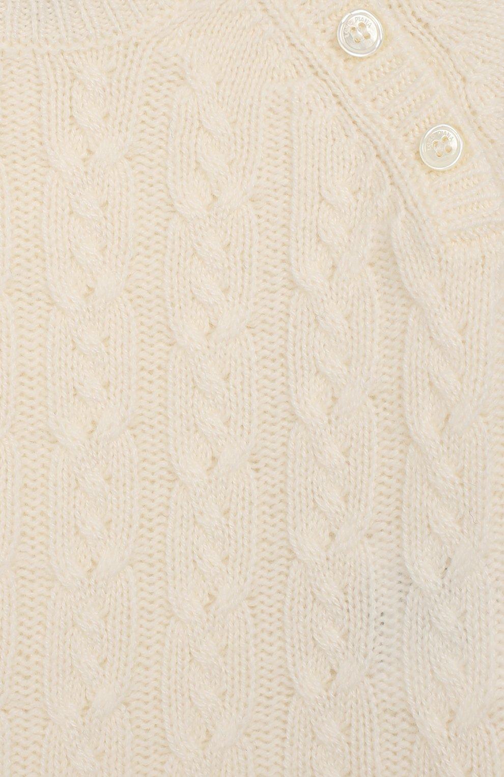 Детский кашемировый комбинезон LORO PIANA белого цвета, арт. FAI7185 | Фото 3