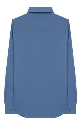 Детская хлопковая рубашка LORO PIANA голубого цвета, арт. FAI6973 | Фото 2
