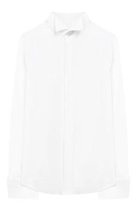 Детская хлопковая рубашка DAL LAGO белого цвета, арт. N425/7537/4-6 | Фото 1