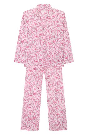 Детская хлопковая пижама DEREK ROSE розового цвета, арт. 7025-LEDB022/3-12 | Фото 1