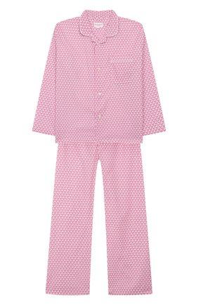 Детская хлопковая пижама DEREK ROSE розового цвета, арт. 7025-LEDB027/3-12 | Фото 1