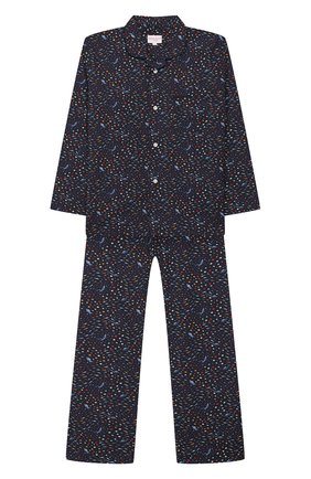 Детская хлопковая пижама DEREK ROSE темно-синего цвета, арт. 7025-LEDB029/3-12 | Фото 1