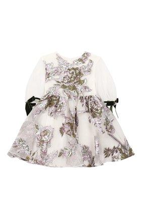 Детское платье из вискозы DAVID CHARLES белого цвета, арт. 724 | Фото 1