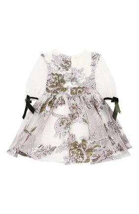 Детское платье из вискозы DAVID CHARLES белого цвета, арт. 724 | Фото 2